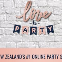 """Love to Party"" supplies for kids parties"